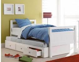 trundle bed king single white with drawers limited stock