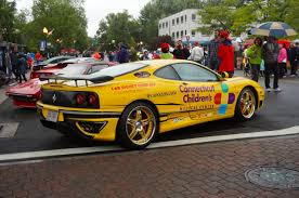golden ferrari enzo ferraris out in force for fundraiser in west hartford center we