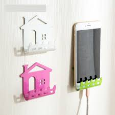 phone charger organizer cellphone phone shelf wall holder sticker stand adhesive charging