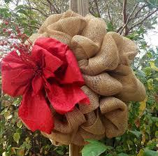 hand made burlap christmas wreath by taz creations custommade com