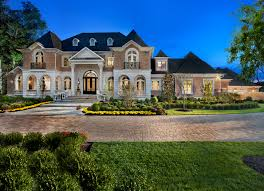 architecture custom luxury home designs with pointed roof and