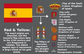 the meaning behind the spanish flag interesting pinterest