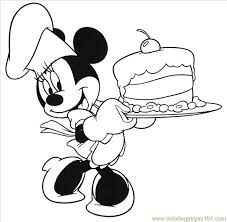 mouse birthday cake coloring free mickey mouse coloring