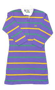 perlis mardi gras polo alternating stripe mardi gras rugby dress