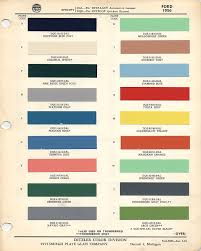 thunderbird paint codes and color chips