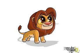 draw chibi simba lion king drawingnow