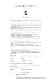 lead software engineer resume samples visualcv resume samples