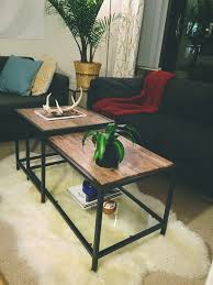 Ikea Nesting Tables by The Ikea Vittsjo Nesting Coffee Table Becomes A Posh Marble Accent