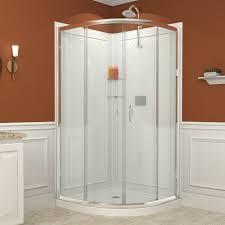 bathroom frameless corner shower dreamline shower doors