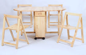 Folding Table With Chair Storage Interesting Drop Leaf Table With Chair Storage With Adorable Drop