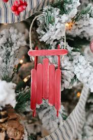 popsicle stick sled ornament tidbits