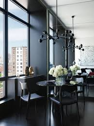 how to use black color to create an incredible dining room