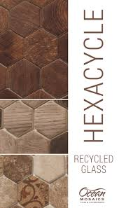recycled glass backsplash for kitchen or bathroom hexacycle