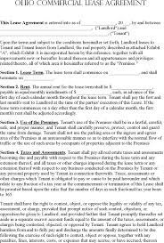 download ohio commercial lease agreement template for free tidyform