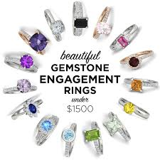 colored engagement rings gemstone engagement rings 1500 the budget savvy