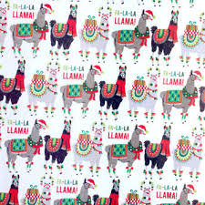 buy christmas wrapping paper llama wrapping paper 1 roll from dandelionpaper on etsy