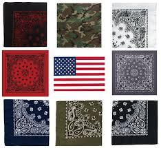 Black American Flag Bandana 12 Pack 1 Dozen Cotton Jumbo 27
