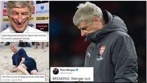 Arsene Wenger Meme - arsenal fans react with hilarious memes and tweets as arsene wenger