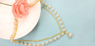 make chain necklace images Pearl necklace making with long golden chain jewelry pendants jpg