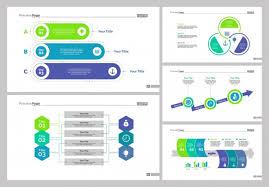 Five Workflow Slide Templates Set Vector Free Download Slide Templates