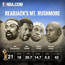 mt rushmore the nba u0027s true mount rushmore u2013 readjack com