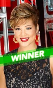 tessanne chin new hairstyle photo tessanne chin sports cut out dress flaunts flawless tummy