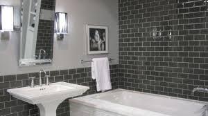 bathroom subway tile ideas gray subway tile bathroom contemporary 6 verdesmoke light