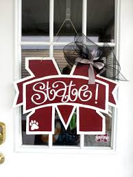mississippi state university m state 25 door decor u0026 gifts by