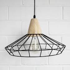 wire cage pendant light industrial loft metal wire cage pendant light wooden block art