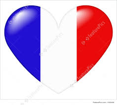 French Flag Background Coeur Francois French Heart Illustration