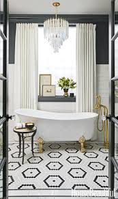 Black And White Bathroom Tiles Ideas by 193 Best Baths Timeless U0026 Classic Tile Images On Pinterest
