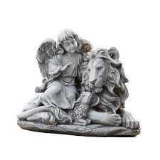 Al S Garden Art Amazon Com Joseph U0027s Studio Angel With A Lion And Lamb Garden