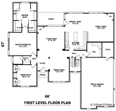 House Plans With Dual Master Suites Large Home Floor Plans Home Shape