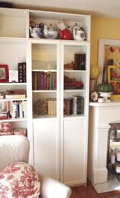 Modern White Bookcase by Furniture Home Tall Bookcase With Doors Modern White Bookcase