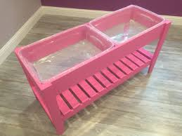 Sand Table Ideas White Pink Sand And Water Table Diy Projects