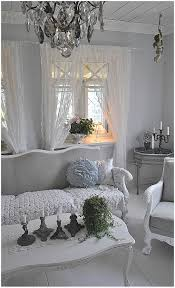 French Chic Home Decor grey walls lace curtains living room sofa shabby chic chair