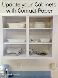 Ideas To Update Kitchen Cabinets Update Your Old Cabinets With Contact Paper Jpg