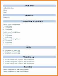 Experienced Resume Templates Experience Resume Format A Good Job Resume Good Resume Samples