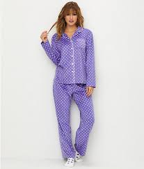 neuburger polka dot fleece pajama set sleepwear rz0029m pdot