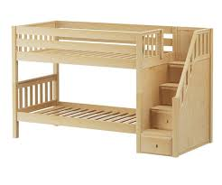 maxtrix stacker low bunk bed with stairs matrix kids furniture