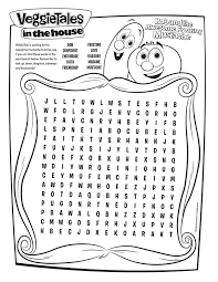 free veggie tales word search printable coloring pages crafts