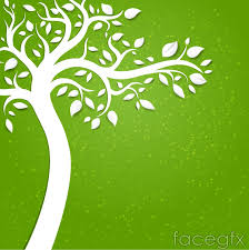 creative tree cutting vector background over millions vectors