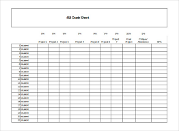 grade sheet template 32 free word excel pdf documents