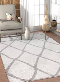 White Modern Rug Vintage Rugs A Wide Range Of Shapes Sizes Designs Well Woven