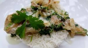 poisson cuisiné poisson au lait de coco et coriandre la tendresse en cuisine