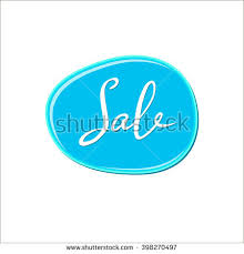 abstract white sale sign over blue stock vector 398270497