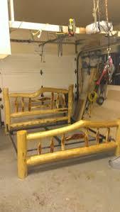 log bed diy frame work logs pinterest diy frame logs and
