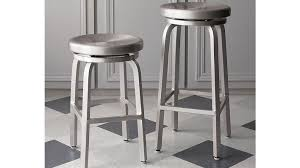 Bar Stool Swivel Plate Spin Swivel Backless Counter Stool Crate And Barrel