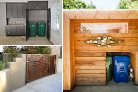 Trash House by 5 Homes With Beautiful Outdoor Trash Storage