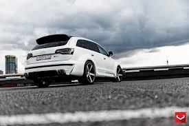 Audi Q7 Matte Black - vossen wheels audi q7 vossen cv3r